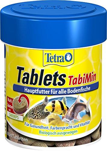 Tetra Tablets TabiMin (Futtertabletten für am Boden gründelnde Zierfische, Hauptfutter für alle bodenfressenden und scheuen Fische), 120 Tabletten Dose