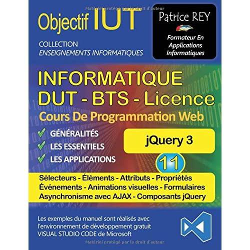 DUT informatique jQuery 3 : Tome 11, Avec Visual Studio Code