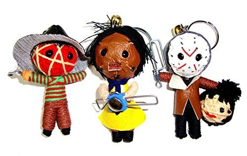Freddy Jason Leatherface Triple Mini String Doll Set by Horror Mini Dolls (Doll String Set)