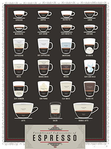 Pop Chart Lab Exceptional Expressions of Espresso – Poster 46 x 61 cm, mehrfarbig