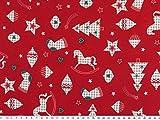 ab 1m: Weihnachtsstoff, Weihnachtsmotive, Baumwolle,