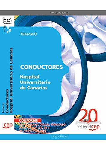 Descargar Libro Conductores Hospital Universitario de Canarias. Temario (Colección 1552) de Sin datos