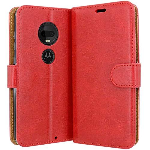 Case Collection Hochwertige Leder hülle für Motorola Moto G7 / G7 Plus Hülle (6,2