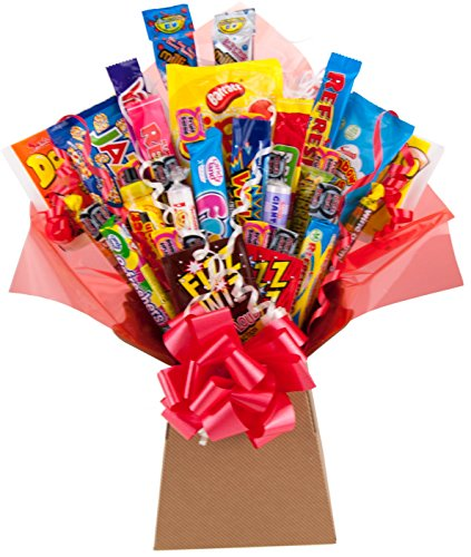 Retro Sweets Bouquet 35 Piece Explosion Gift Hamper Box