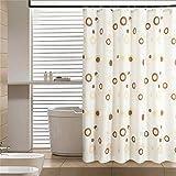 LESOLEIL Cortina de ducha de poliéster Baño decoración impermeable con ganchos 180x200cm