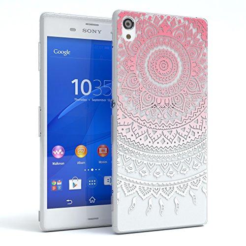"""Sony Xperia Z3 Hülle - EAZY CASE Slimcover """"Clear"""" Handyhülle - Schutzhülle als Smartphone Case in Schwarz / Anthrazit Henna Pink / Weiß"""