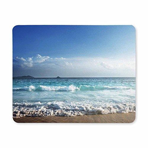 InterestPrint Mauspads für Computer/Schreibtisch/Schreibwaren, Motiv Schildkröte in der Natur des Karibischen Meeres, Gummi, strapazierfähig, als Geschenk, multi 9, 9.84