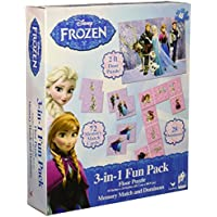Disney Frozen 3 in 1 Activity Game Box - Puzzle, Floor Dominoes, Memory Match by Disney