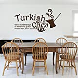 Islamische Wandtattoos - Meccastyle - Sprüche - Küche - Turkish Coffee - A771