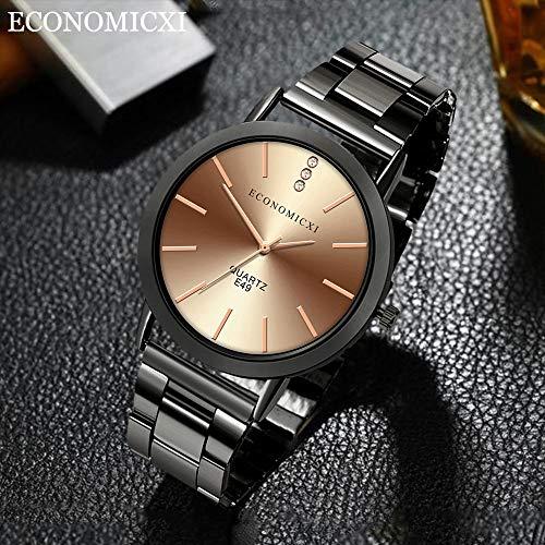 REALIKE Herren Uhr Chronograph Analogue Quartz Wasserdicht Business Schwarz Zifferblatt Armbanduhr mit Edelstahl Mesh Cool Sportuhr Outdoor Laufen mit für Männer