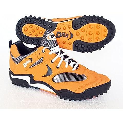 Dita–Zapatillas de hockey sobre césped King 2(naranja) Reino Unido tamaño 13/EU 48