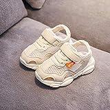 HLIYY Sandales Bout Fermé Mixte Enfant Confortables Flexibles Beach Sandales Filles garçons Sandales en Cuir Chaussures Cuir Souple bébé Premiers Pas bébé Baskets