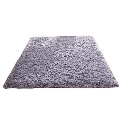 Tappeto anti-arriccia-tappeto di seta, moquette del sofà del tavolo da salotto della camera da letto del salotto, 1.6m * 2.3m congming (colore : gray, dimensioni : 1m*1m)