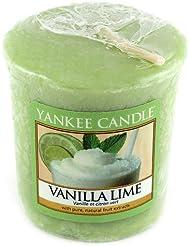 Yankee candle 1107081E Bougie votive senteur Vanille et citron vert 49 g Vert