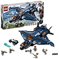 LEGO 76126 Marvel Avengers Ultimate Quinjet Plane, Super Heroes Playset Includes Black Widow, Hawkeye, Rocket and Thor Minifigures, Colourful