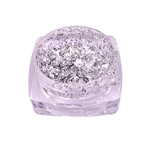 Xshuai Multi Gebraucht Glitter Aluminium Flakes Magic Spiegel Effektpulver Sequins Nail Home Dekorativ (A) Acryl-dekorative Edelsteine