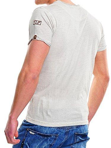 TAZZIO Steyler V-Kragen T-Shirt 4060 Grau