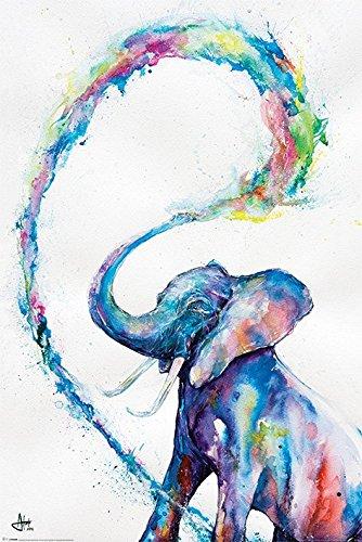 Marc Allante elefante Maxi Poster, multicolore