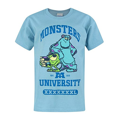 Monster University Jungen Mike & Sulley T-Shirt (Jahre (1/2)) (Vivid Blau)