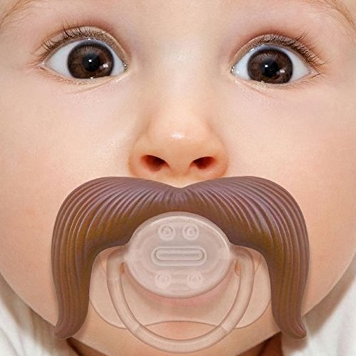 Funny baby gifts amazon kasstino baby funny dummy prank pacifier novelty toy teeth children child soother nipple cowboy voltagebd Images