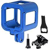 First2savvv GO-Session-GL-03 bleu Aluminium Boîtier/Coque Case pour GoPro Hero 4 Hero 5 Session + Bouton de vis