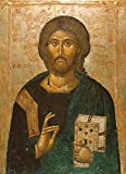 Kunstdruck/Poster: Ikonenmalerei Christus der Lebensspender Ikone - hochwertiger Druck, Bild, Kunstposter, 40x55 cm