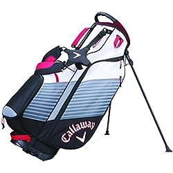 Calaway Chev Bolsa Trípode de Golf, Unisex Adulto, Negro / Blanco / Rojo, Talla Única
