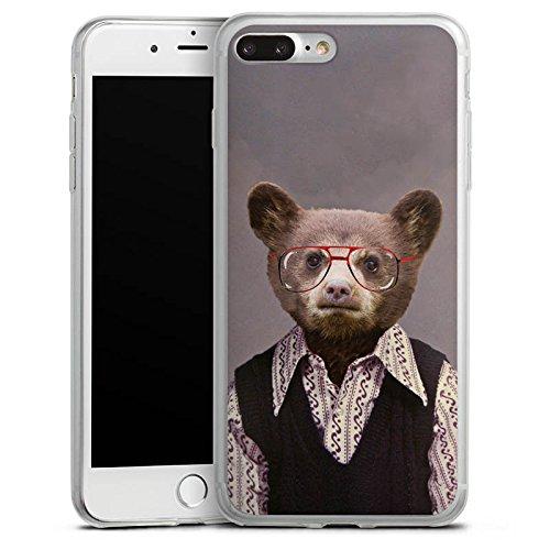 Apple iPhone X Slim Case Silikon Hülle Schutzhülle Benji Bear Bär Braunbär Silikon Slim Case transparent