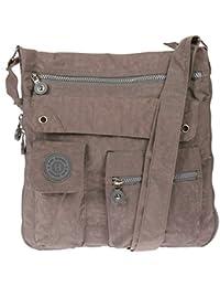 2221 Bag Street Damen sportliche Handtasche Umhängetasche Schultertasche aus Nylon