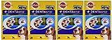 Pedigree DentaStix Hundesnack für mittelgroße Hunde (10-25kg), Zahnpflege-Snack mit Huhn und Rind, 4 Packung je 28 Stück (4 x 720 g)