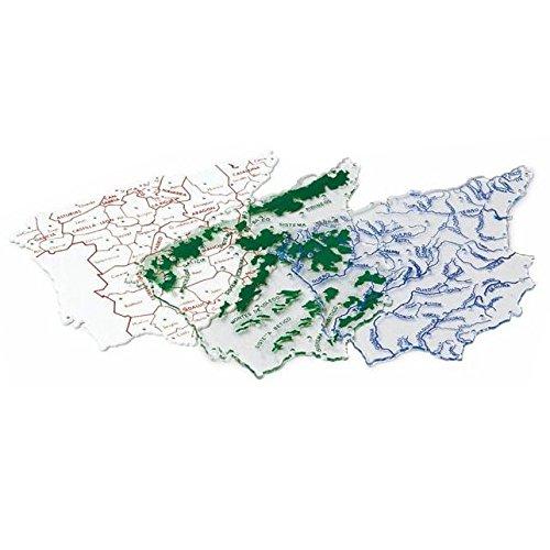 Plantilla Plastico Mapa España Bachiller B/3 Uds.