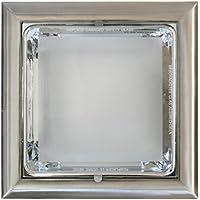 Kit Downlight cuadrado E27 Niquel Electro DH. Para dos bombillas de 18 W 80.056/CUNI 8430552116232