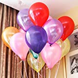 Vegkey Luftballons Bunt 100 Stück, Latex Party Luftballons und Ballonpumpe, Helium Luftballons, Pumpe Luftballons Bunte Ballons, Farbige Partyballons für Geburtstags Weihnachten, Hochzeit.