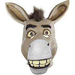 Bangxiu Funny Animal Skull Cover Pobre Boca Donkey Whimsy Whole Person Latex Maskx
