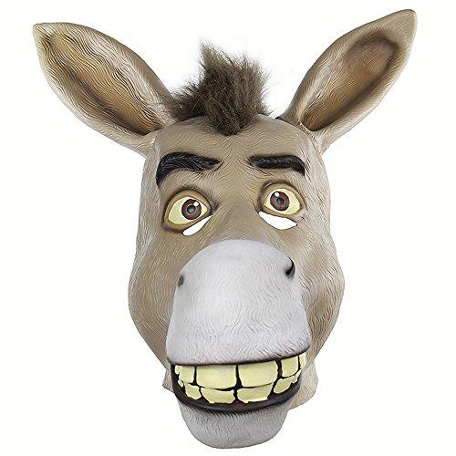 A_Feel Lustiger Schädel-Abdeckung-armer Mund-Esel-launische Ganze Person Latex