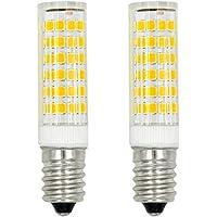2pz MENGS® Lampada LED 7W E14 75x 2835 SMD LEDs (Bianca Calda 3000K, 360 angolo, 510lm, AC 220-240V, 16 x 65mm) Lampadine a risparmio energetico
