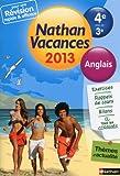 Nathan Vacances Anglais - De la 4e vers la 3e