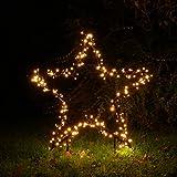 Weihnachtsstern Ø 90 cm mit 225 LED beleuchtet Gartenstern von Gartenpirat®