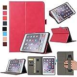MYTHOLLOGY für ipad Mini/ipad Mini 2 /ipad Mini 3 /ipad Mini 4 Hülle, PU-Leder Tablet Schutzhülle Tasche mit Handschlaufe und Kartenschlitz, Standfunktion Hülle - Rose