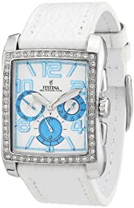 Festina - F16362/F - Montre Femme - Quartz Chronographe - Bracelet Cuir Blanc