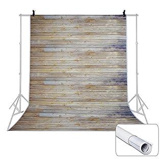 Voilamart 5X7ft / 1.5 *2.1 M Fotohintergrund Fotografie Stoffhintergrund Stoff Hintergrund Mit Holz Boden