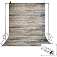 Voilamart 1.5x2.1M Gran fotografía Fondo Telón de fondo de madera de poliéster Papel de fondo Rollo de diseño Vintage Madera Piso de madera