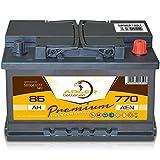 Autobatterie 12 V / 85 Ah - 770 A/EN 58541 Adler ers. 68 70 72 74 82 88 Ah