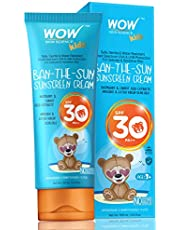 WOW Kids Ban-The-Sun Sunscreen Cream Spf 30 Pa++ - No Parabens, Silicones, Oxide Color, Mineral Oil and Benzophenone, 100 ml