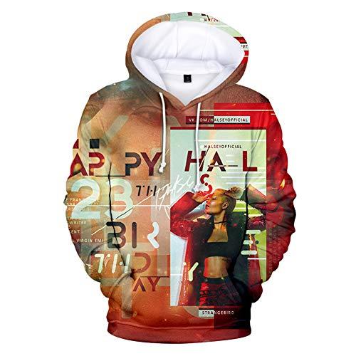 WYDHHLD Mode Hoodies 3D gedruckt Hoodie Pullover Halsey Graphic Sweatshirts mit Kapuze mit großen Taschen,A,XS