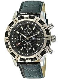 Constantin Durmont Herren-Armbanduhr XL Gear Chronograph Quarz Leder CD-GEAR-QZ-LT-STST-BK