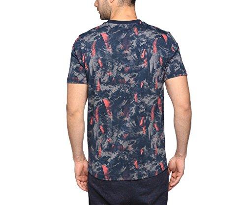 Puma Herren Rbr Allover Tee T-Shirt marine - grau - rot