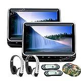 """XTRONS 10,1"""" Auto DVD Player mit USB und HDMI Port Headrest DVD Player unterstützt 1080p Video Blickswinkel verstellbar (HD102HDx2+DWH006x2)"""