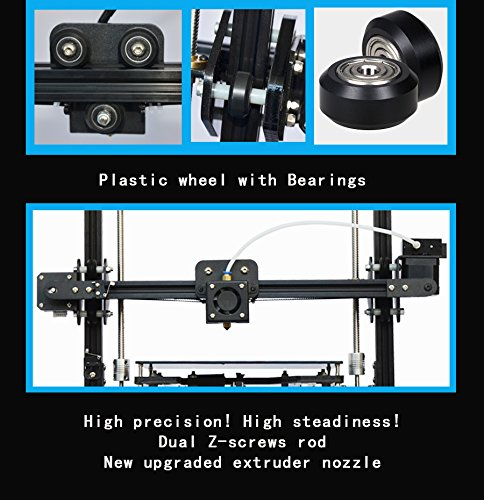 High Precision 3D Printer Auto-Leveling prusa i3 Full Metal Aluminium  Structure 3D Printer Kit Self-assembly DIY 3D Machine with MK3 Heatbed LCD