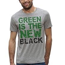 Bioworld-Camiseta de manga corta, diseño ecológico, registrado con el número Green-Is The New Black-del hombre a XS XXL